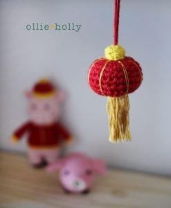 Free Chinese Lantern Ornament Amigurumi Crochet Pattern Complete