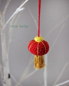 Free Chinese Lantern Ornament Amigurumi Crochet Pattern