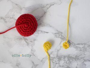 Free Chinese Lantern Ornament Amigurumi Crochet Pattern Step 1