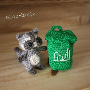 Free Toronto Raccoon and Green Bin Amigurumi Crochet Pattern Complete