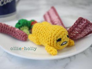 Free Gudetama Amigurumi Crochet Pattern Complete
