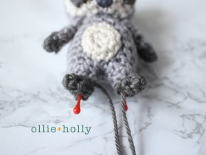 Free Toronto Raccoon Amigurumi Crochet Pattern Step 18