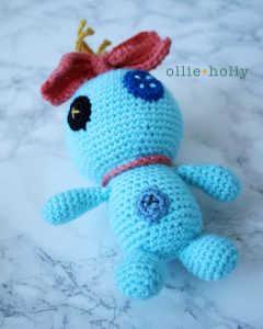 Free Disney Scrump Doll Amigurumi Crochet Pattern (Lilo & Stitch) Step 17
