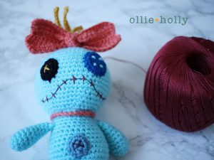Free Disney Scrump Doll Amigurumi Crochet Pattern (Lilo & Stitch) Step 20
