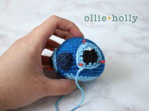 Free Disney Lilo & Stitch Amigurumi Crochet Keychain/Bag Charm Pattern Step 6