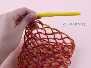 Free Crochet Grocery Produce Bag Pattern Step 7