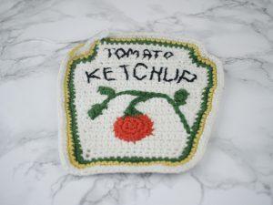 Free Ketchup Bottle Pillow Amigurumi Crochet Pattern Step 17