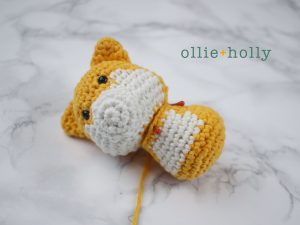 Free Shiba Inu Amigurumi Crochet Pattern Step 10
