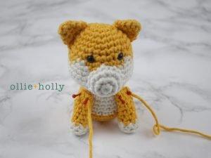 Free Shiba Inu Amigurumi Crochet Pattern Step 11