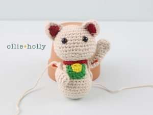 Free Maneki Neko Lucky Cat Amigurumi Crochet Pattern Step 15