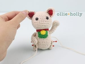Free Maneki Neko Lucky Cat Amigurumi Crochet Pattern Step 16