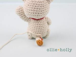 Free Maneki Neko Lucky Cat Amigurumi Crochet Pattern Step 18