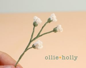 Free Baby's Breath Flower Crochet Pattern Complete