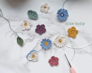 Free Tiny Flowers Bouquet Crochet Pattern Separated
