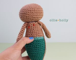 Free Disney Ariel Little Mermaid Amigurumi Crochet Pattern Step 8