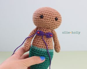 Free Disney Ariel Little Mermaid Amigurumi Crochet Pattern Step 9