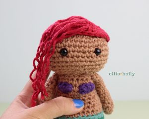 Free Disney Ariel Little Mermaid Amigurumi Crochet Pattern Step 22