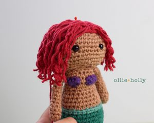 Free Disney Ariel Little Mermaid Amigurumi Crochet Pattern Step 23