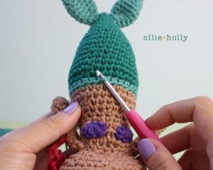 Free Disney Ariel Little Mermaid Amigurumi Crochet Pattern Step 24
