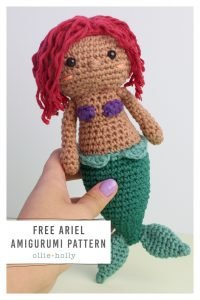 Free Disney Ariel Little Mermaid Amigurumi Crochet Pattern