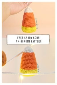 Free Halloween Candy Corn Ornament Amigurumi Crochet Pattern