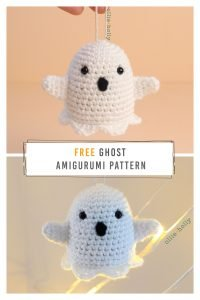 Free Halloween Ghost Amigurumi Ornament Crochet Pattern