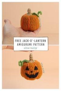 Free Jack-o'-Lantern Pumpkin Ornament Amigurumi Crochet Pattern