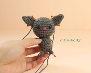 Free Halloween Bat Ornament Amigurumi Crochet Pattern Step 12